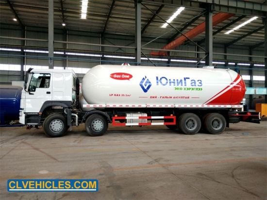LPG Gas Transport Truck